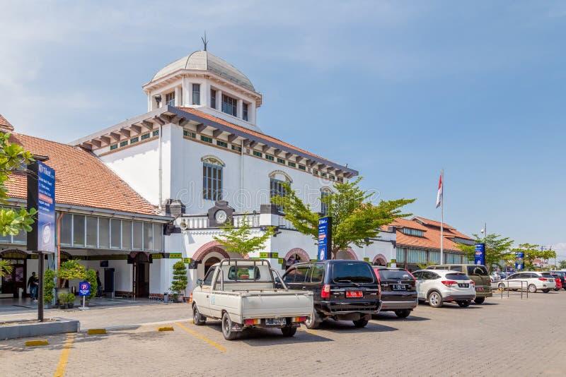 StationTawang i Semarang, västra Java, Indonesien royaltyfria bilder