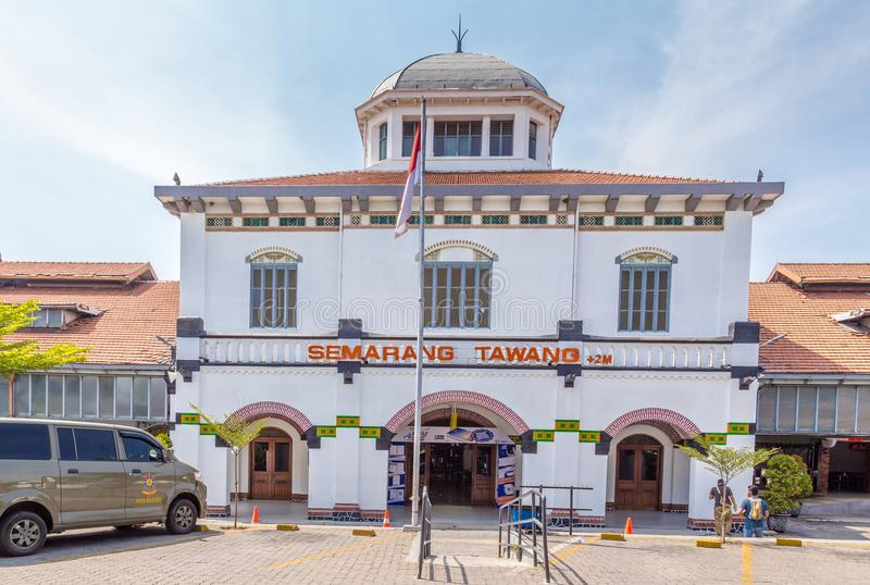 StationTawang in Semarang, West-Java, Indonesien stockfotos