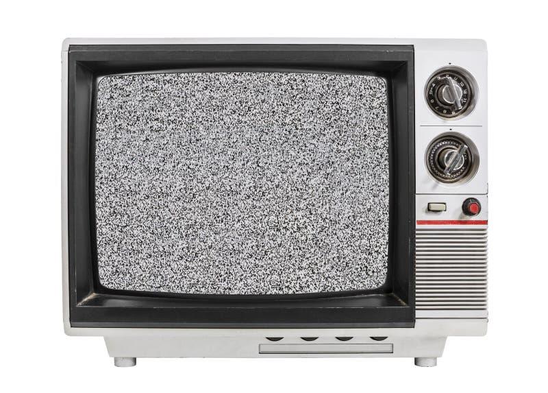 Statische Geïsoleerde het Scherm Oude TV royalty-vrije stock foto