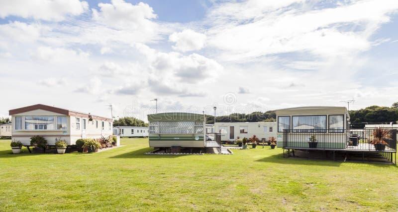 Statischer Wohnwagen Ferienpark stockfoto
