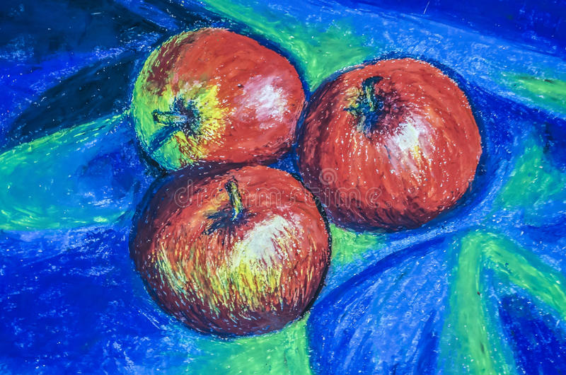 Statisk natur med äpplen arkivfoto