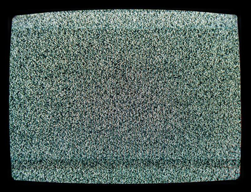 Statiskt oväsen av den detuned TVskärmen arkivfoto