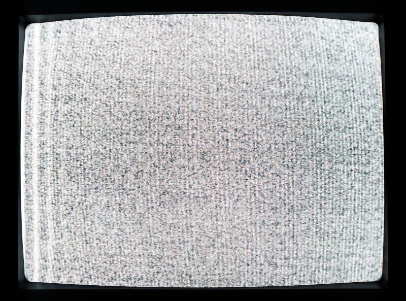 Statiskt ov?sen av den detuned TVsk?rmen arkivbild