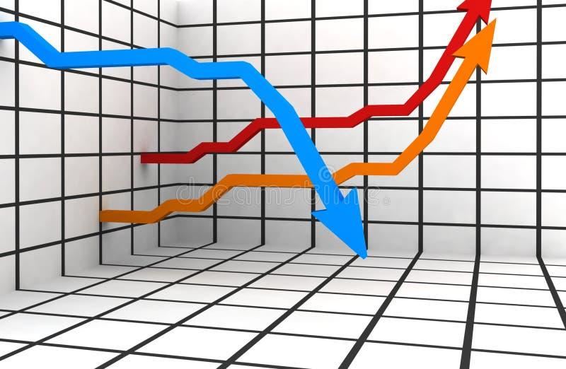 statistiche 3d illustrazione di stock