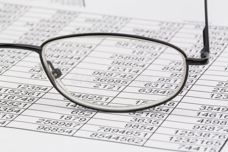 Statistiche e tabelle fotografia stock