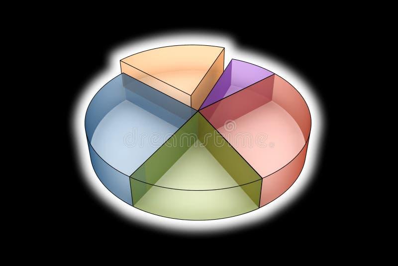 Statistics - 3d isolated on black royalty free illustration