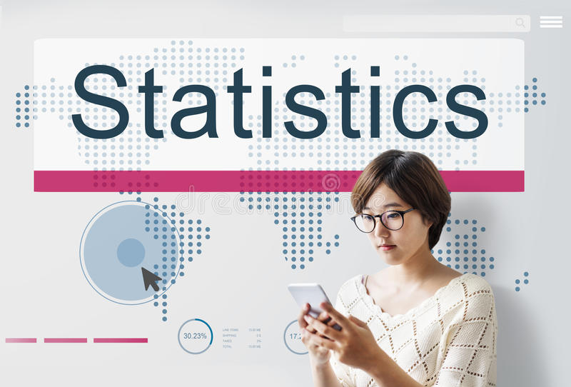 Statistics Analysis Business Information Report Concept stock image