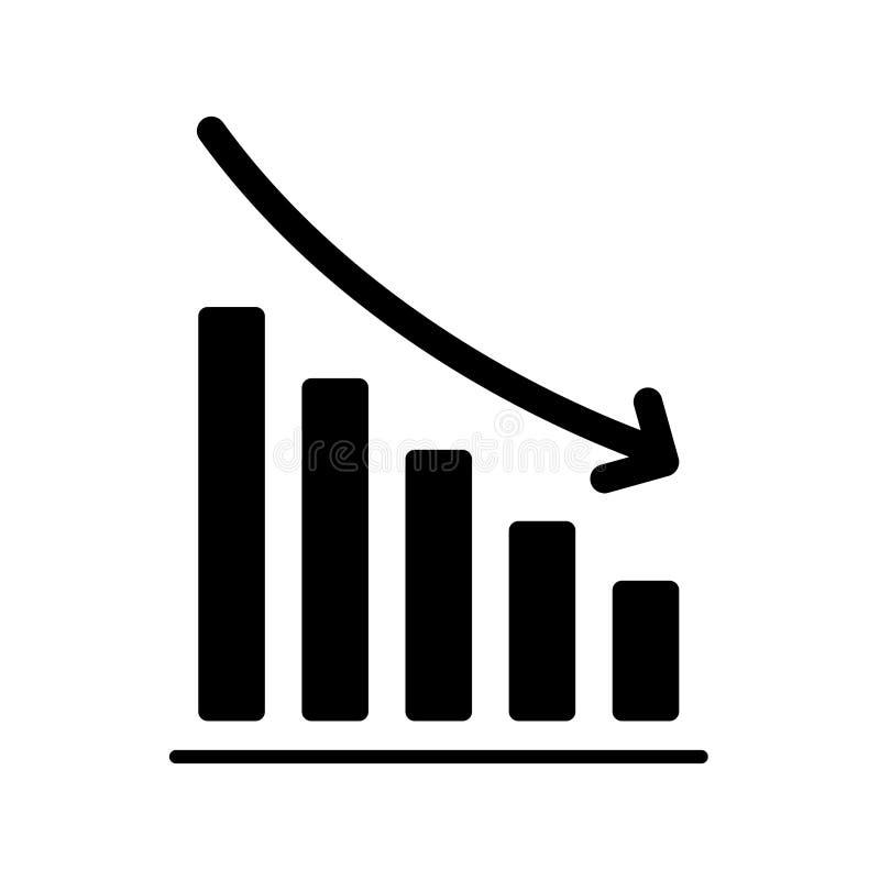 Statistics down icon flat vector illustration design. Isolated on white background royalty free illustration