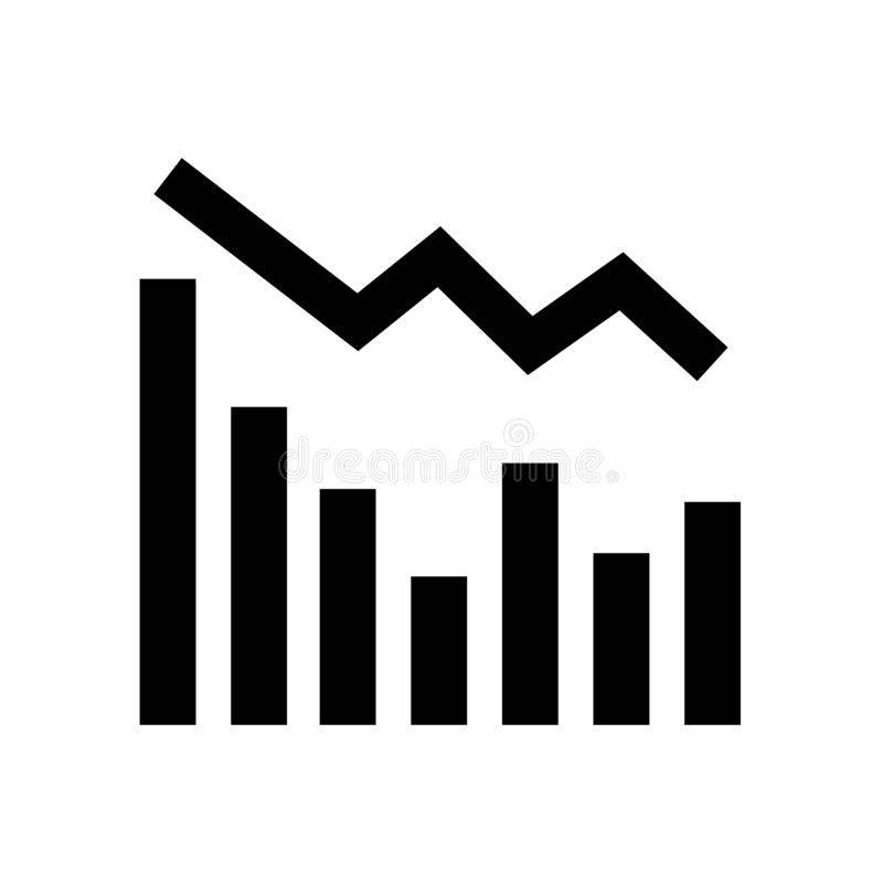 Statistics down icon flat vector illustration design. Isolated on white background vector illustration