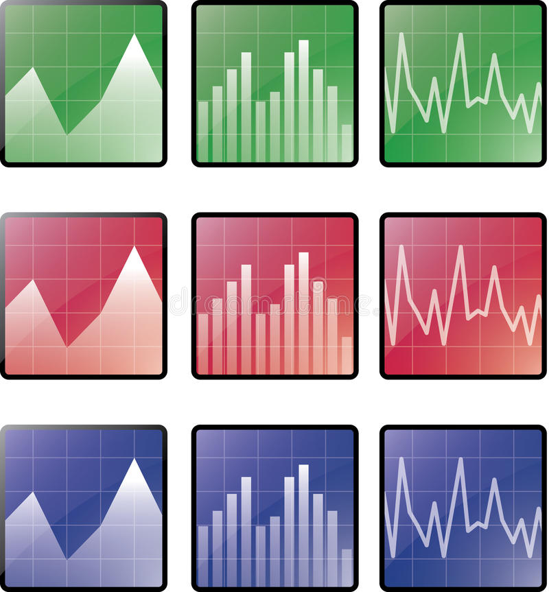 Download Statistics icons stock vector. Image of symbol, square - 16401304