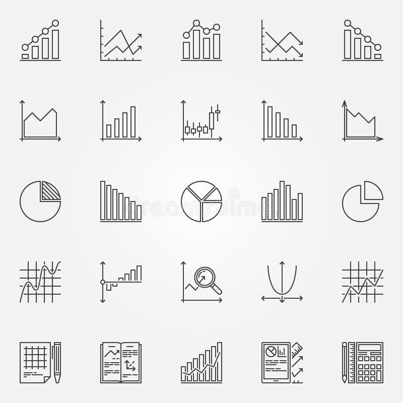 Statistics Icons Set Stock Vector Illustration Of Chart 67896562