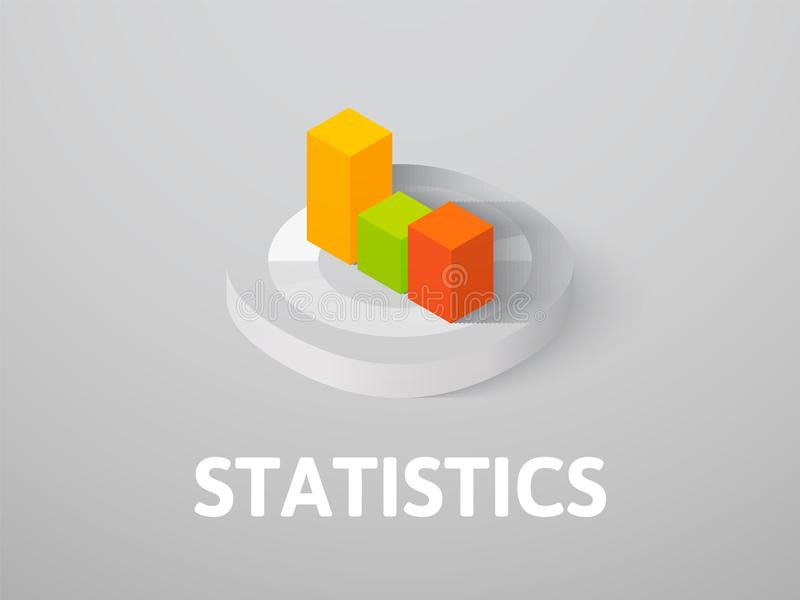 Statistics isometric icon, isolated on color background vector illustration