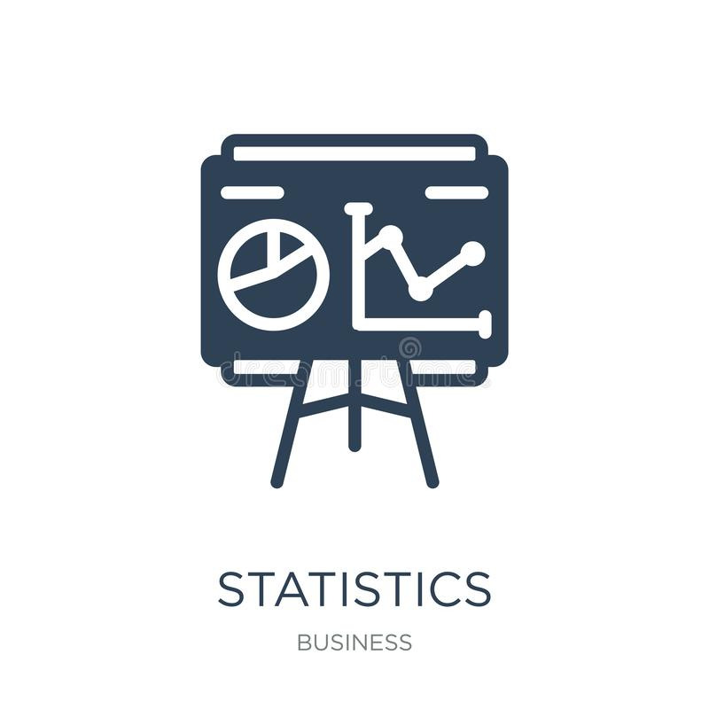 statistics presentation icon in trendy design style. statistics presentation icon isolated on white background. statistics stock illustration