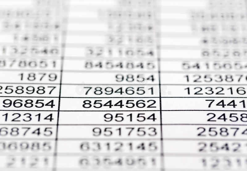 Statistics and tables royalty free stock image