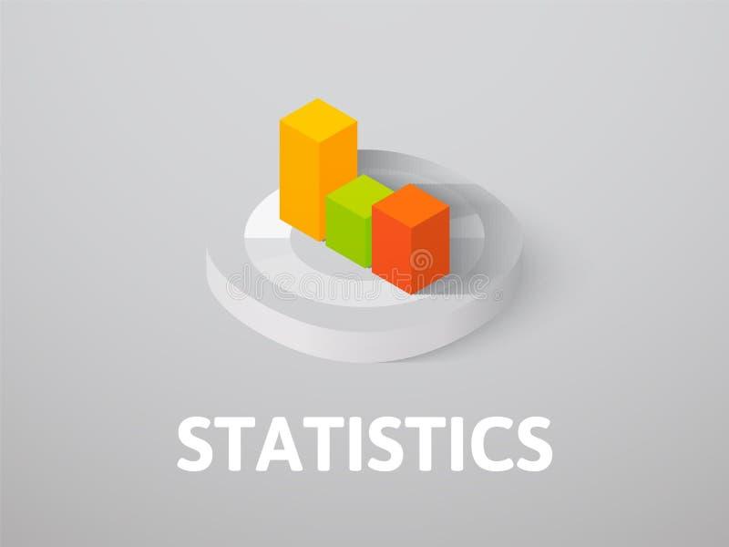 Statistieken isometrisch die pictogram, op kleurenachtergrond wordt geïsoleerd vector illustratie