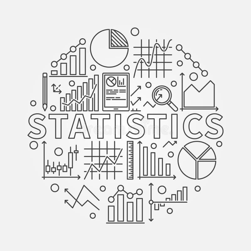 Statistieken onderworpen illustratie royalty-vrije illustratie
