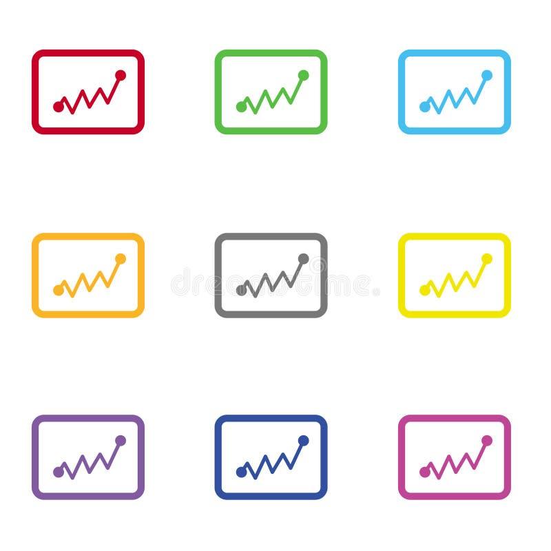 Statistiekenpictogram voor Web en mobiel stock foto