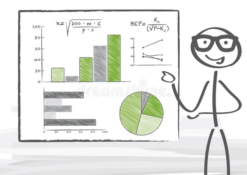 Statistik stock de ilustración