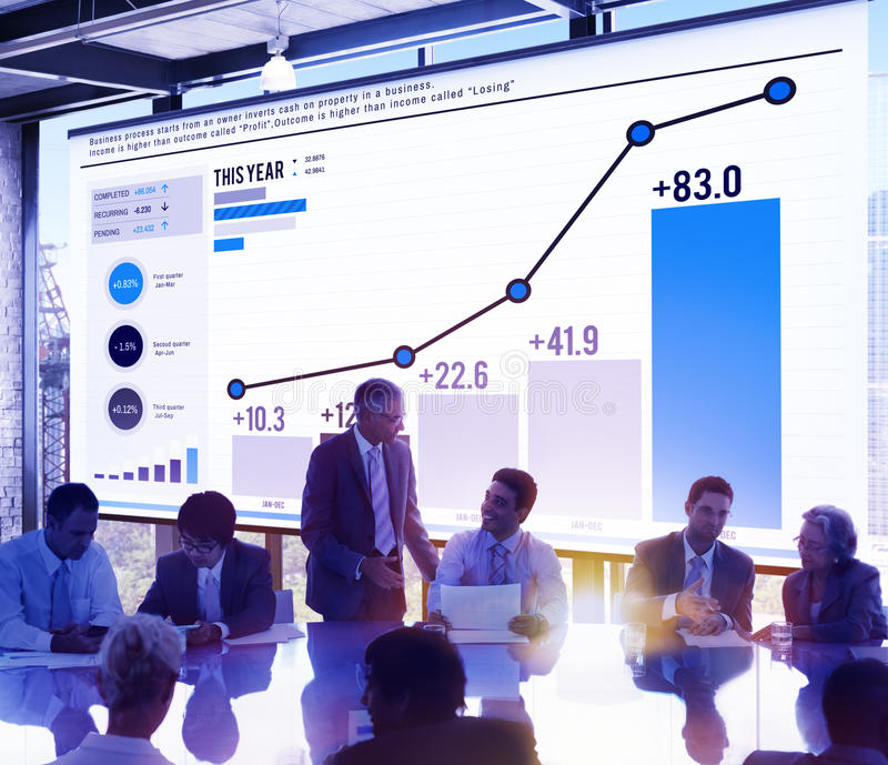Statistik-Datenanalyse-Finanzerfolgs-Konzept stockfotografie