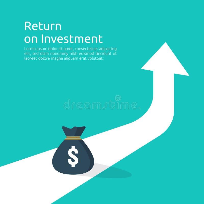 statistik för förhöjning för hastighet för inkomstlöndollar intäkt för marginal för affärsvinsttillväxt Finanskapacitet av retur  royaltyfri illustrationer