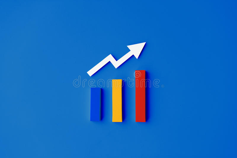 Statistik-Strategie-Analyse-Diagramm-Informations-Konzept lizenzfreie abbildung