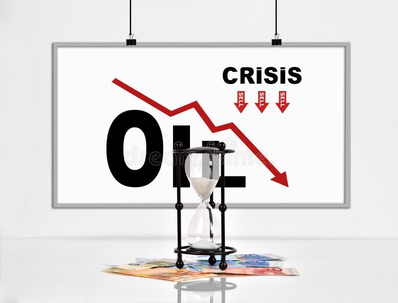 Statistikeinsturz in den Ölpreisen lizenzfreie abbildung