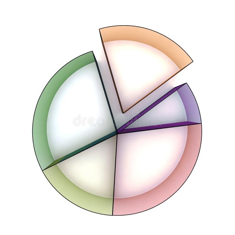 Statistiken 3d lizenzfreie abbildung