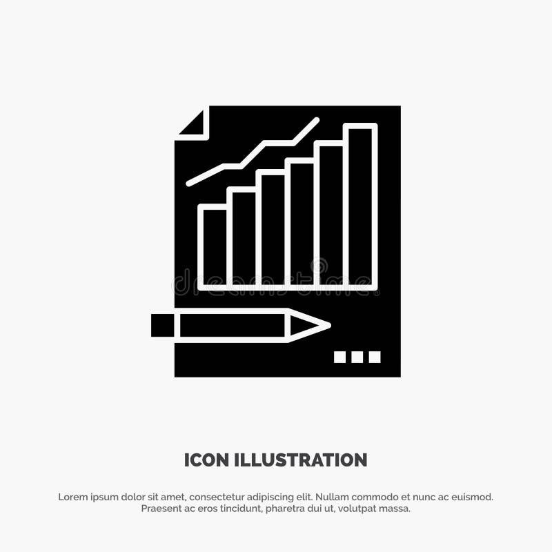 Statistiken, Analyse, Analytics, Geschäft, Diagramm, Diagramm, Markt fester Glyph-Ikonenvektor vektor abbildung
