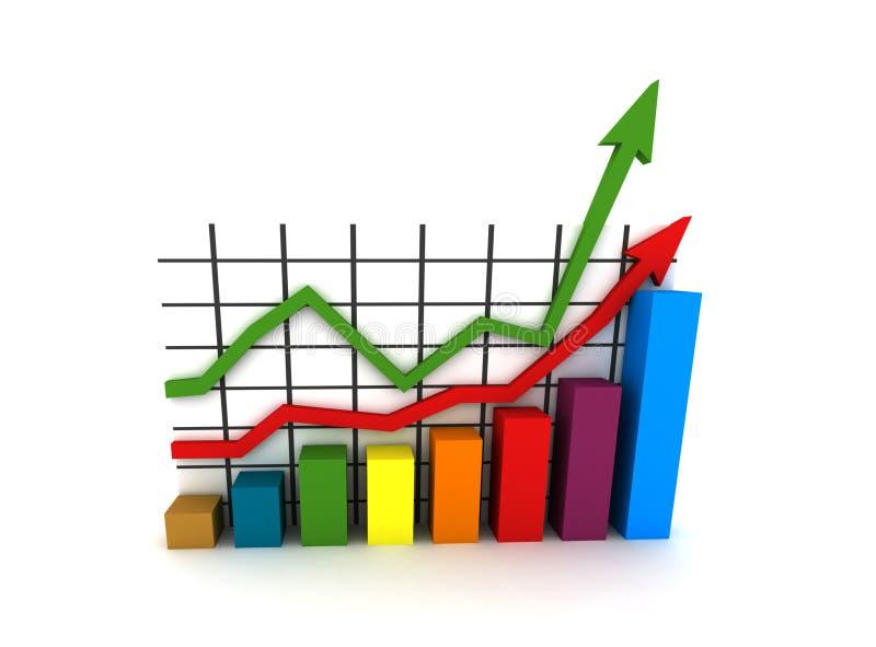 Statistiken - Mehrfarbendiagramm stock abbildung