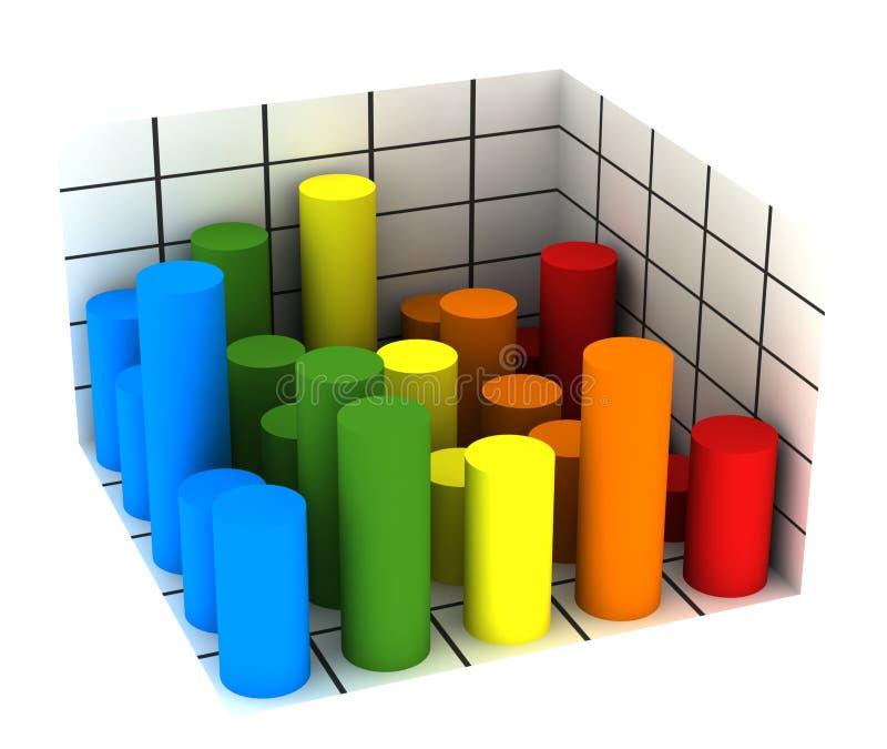 Statistiken - Mehrfarbendiagramm lizenzfreie abbildung
