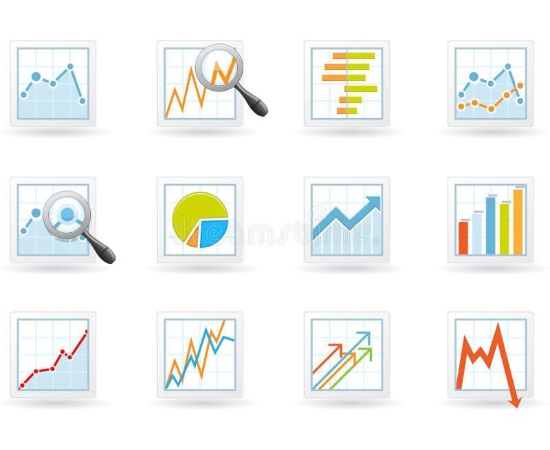 Statistiken und analytics Ikonen vektor abbildung