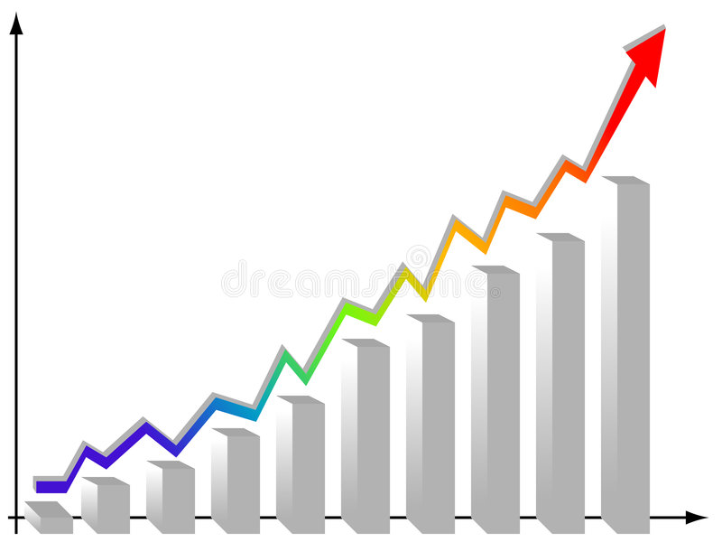 Statistikgraphiken vektor abbildung
