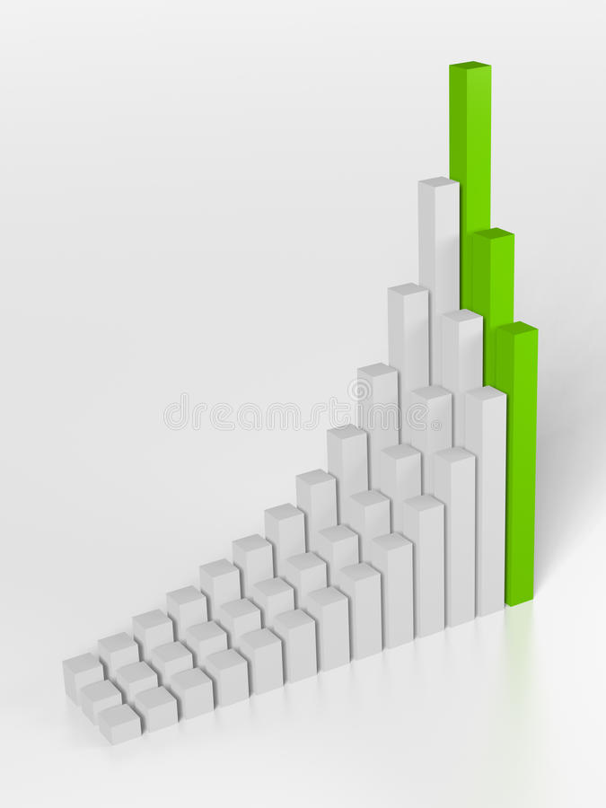 Statistiques commerciales illustration de vecteur