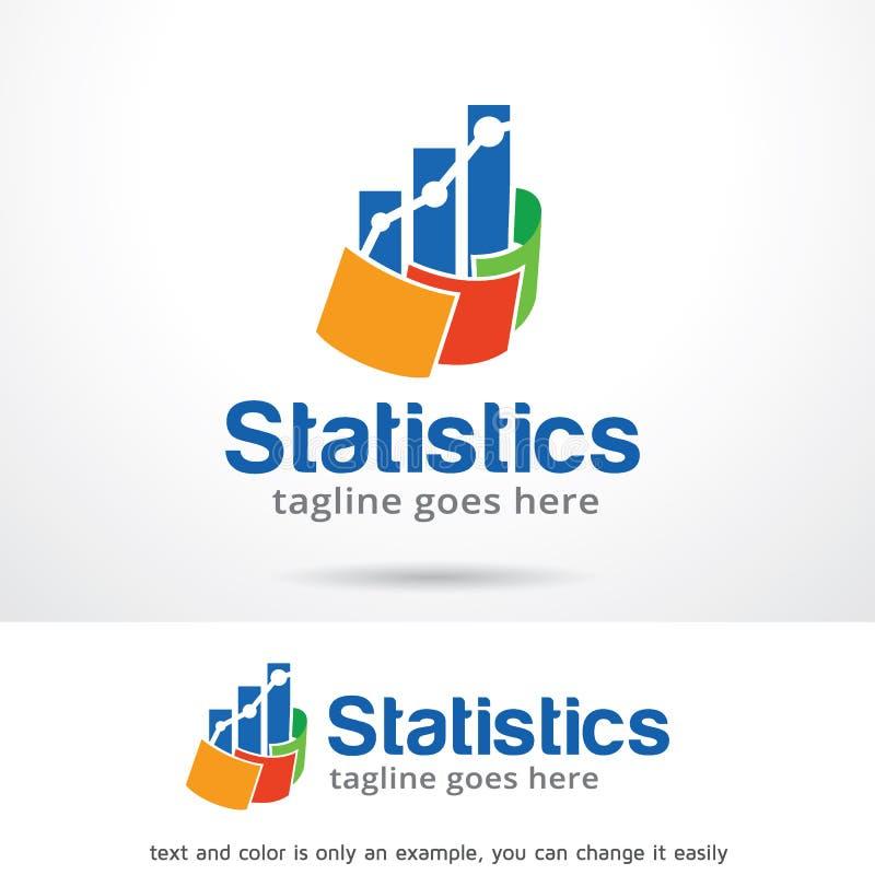 Statistiques Logo Template Design Vector illustration libre de droits