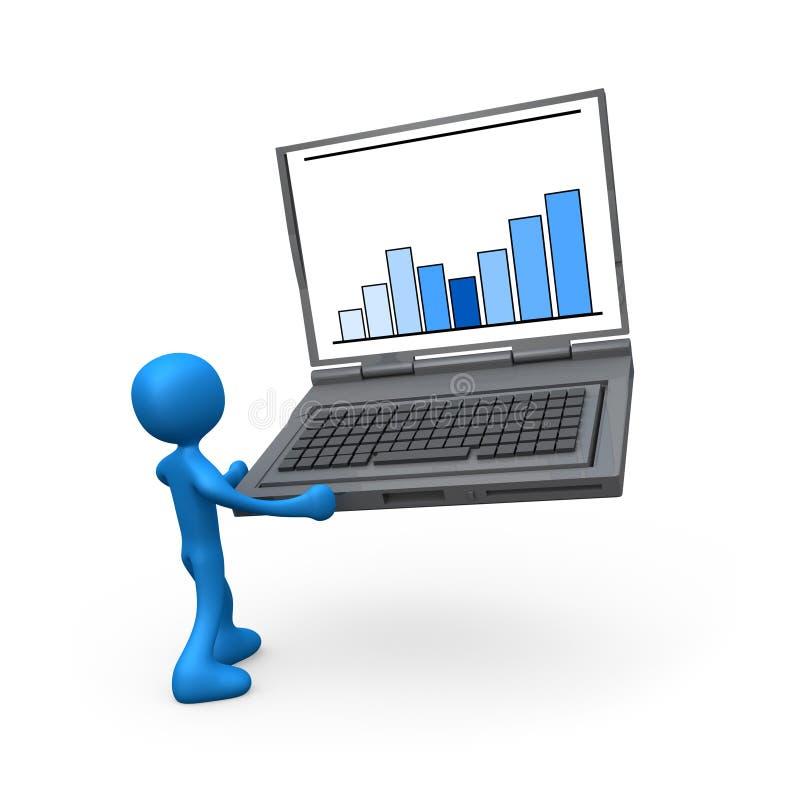 Statistiques portatives illustration de vecteur