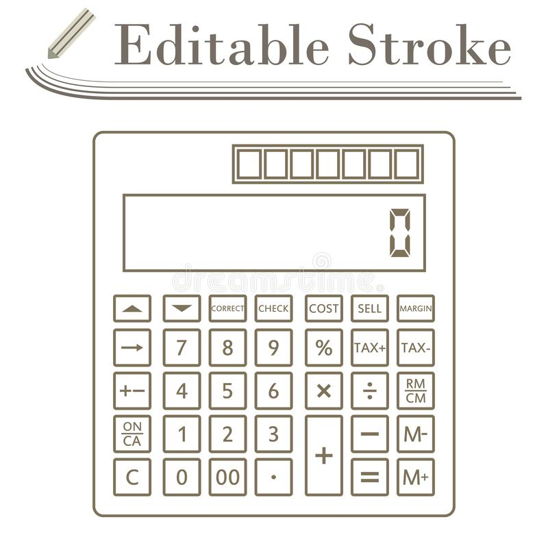 Statistisch calculatorpictogram royalty-vrije illustratie