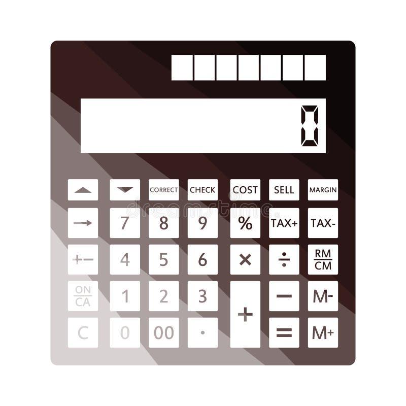 Statistisch calculatorpictogram stock illustratie