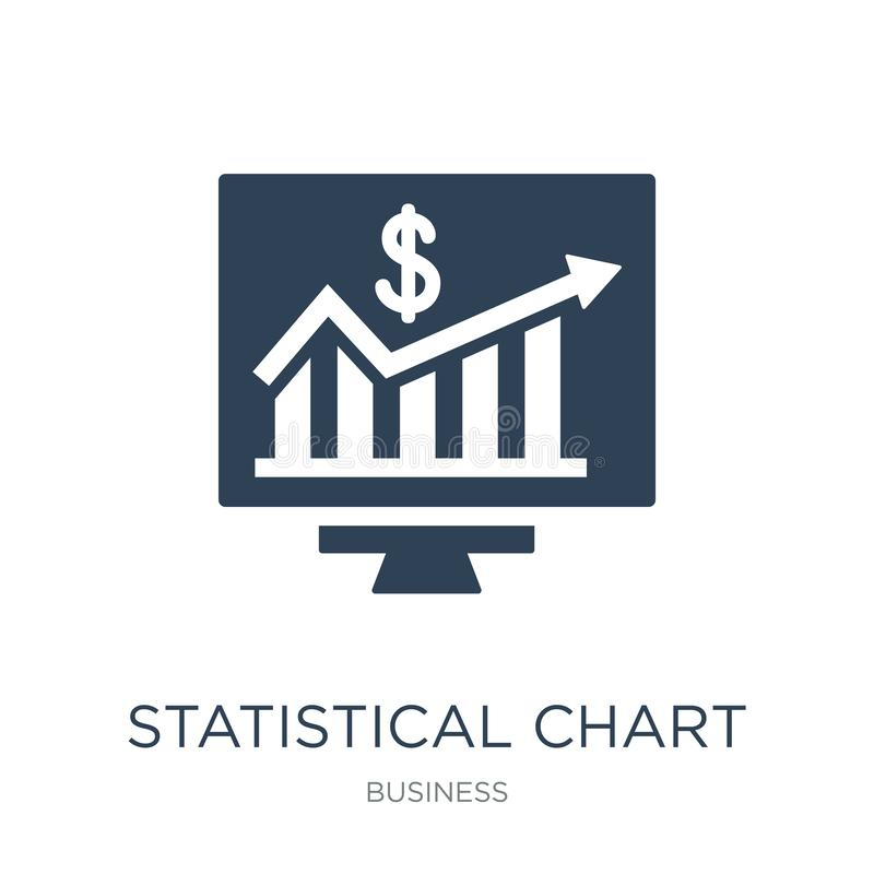 statistisch grafiekpictogram in in ontwerpstijl statistisch die grafiekpictogram op witte achtergrond wordt geïsoleerd statistisc royalty-vrije illustratie
