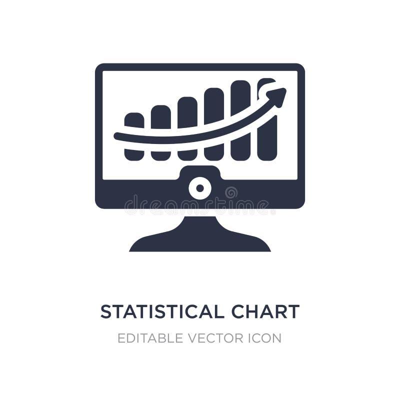 statistisch grafiekpictogram op witte achtergrond Eenvoudige elementenillustratie van Bedrijfsconcept stock illustratie