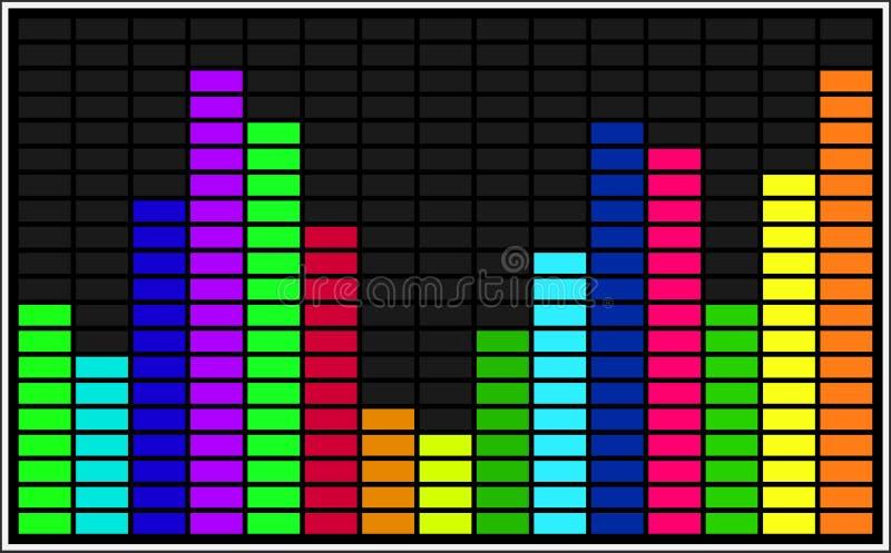 Statistiska funktionskort för vektor arkivfoto