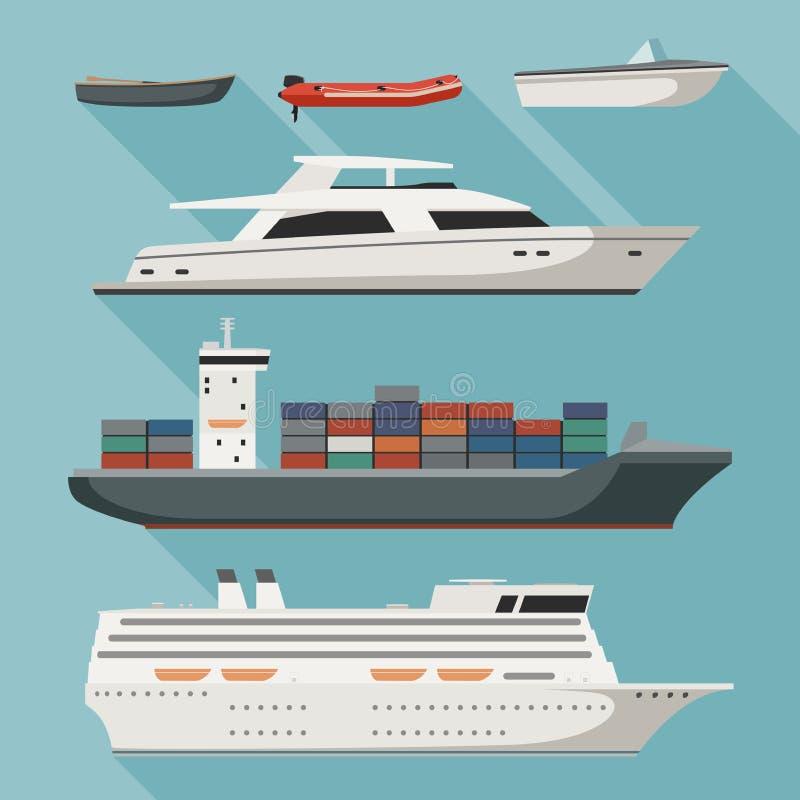 Statki i łodzie royalty ilustracja