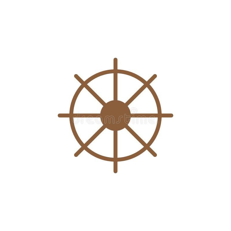 Statki toczą ikona wektor, wypełniający mieszkanie znak, stały kolorowy piktogram odizolowywający na bielu ilustracji