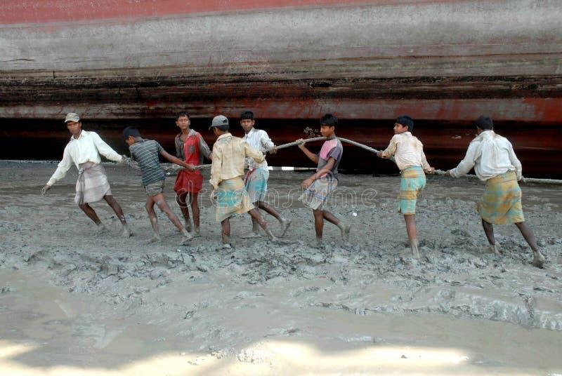 Statku łamanie w Bangladesz obraz royalty free