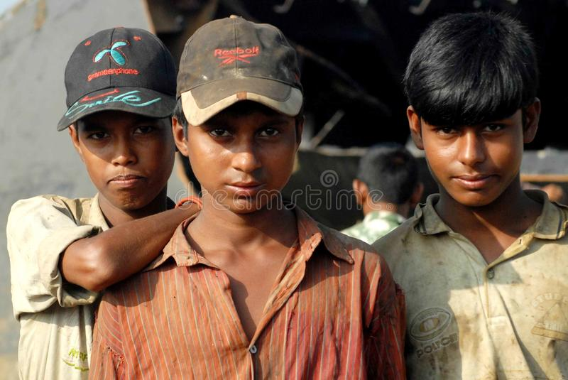 Statku łamanie w Bangladesz zdjęcie stock
