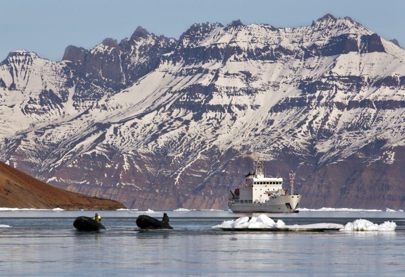 statku arktyczny wysoki turysta zdjęcie stock