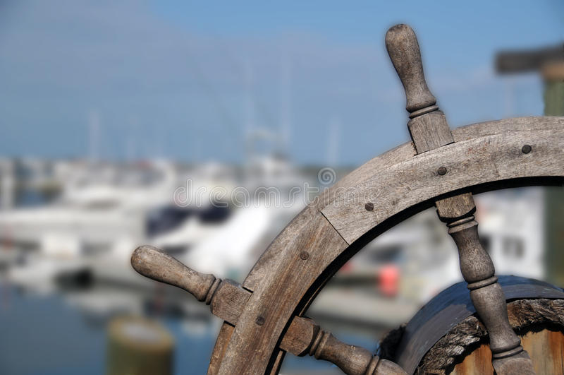 statku koło zdjęcie stock