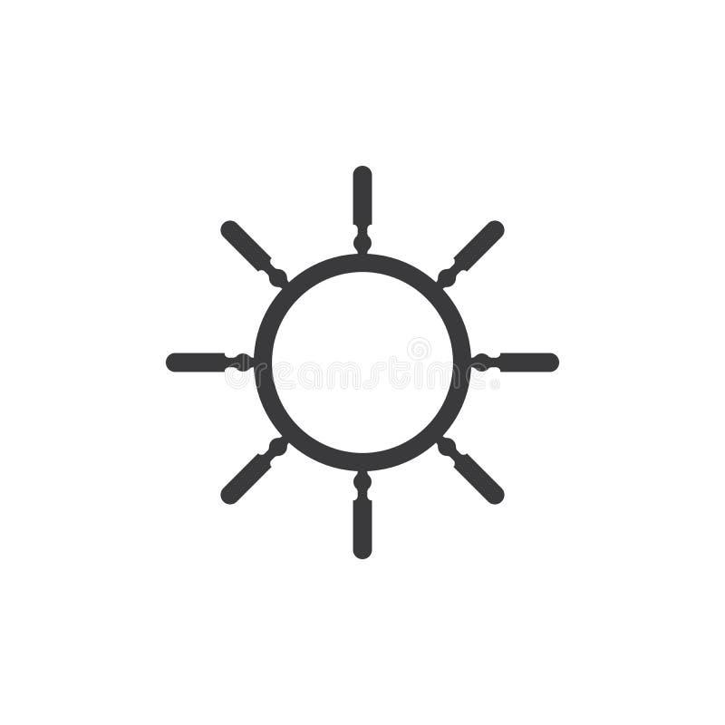 Statku ko?a ikona royalty ilustracja