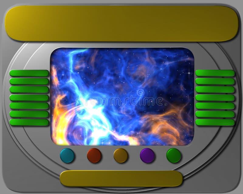 Statku kosmicznego pulpit operatora z widokiem ilustracji