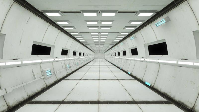 Statku kosmicznego wnętrze, centrum widok z podłoga