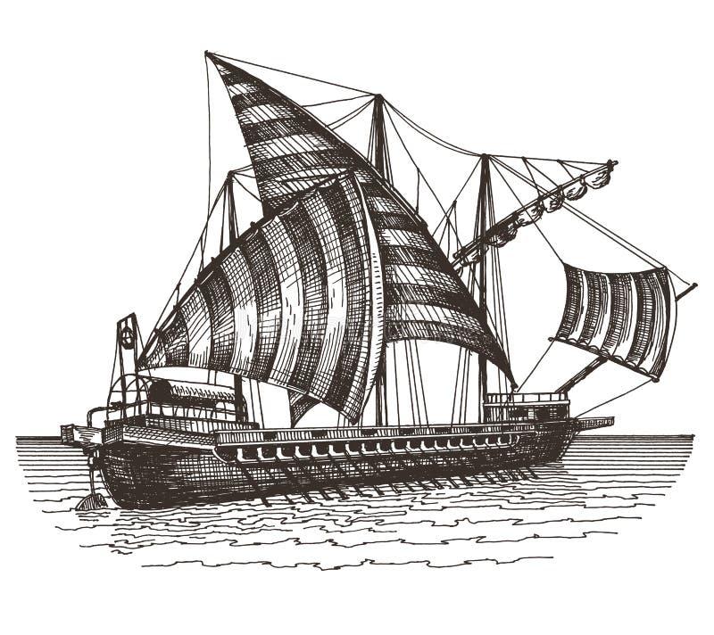 Statku loga projekta wektorowy szablon ilustracyjny logotyp przygotowywał żeglowanie używać wektorowego naczynie ilustracja wektor